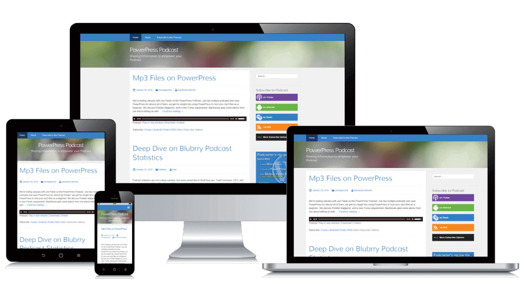 responsive powerpress sites